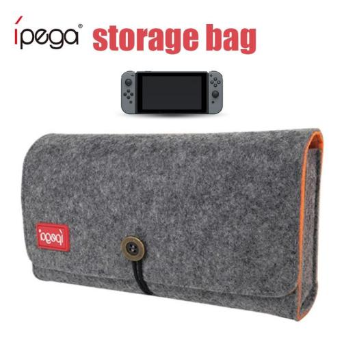 IPEGA Little Grey with Game Card Slot PG-SL008 Anti-scratch Double Storage Protection Bag for Switch protect the love machine4 Convenient to carry:
