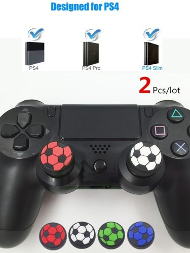2Pcs Controller Thumb Stick Grips Cap Soft Rubber Football Design Silicone Joystick Button Cover For Description: Product Description 1 These grips 2