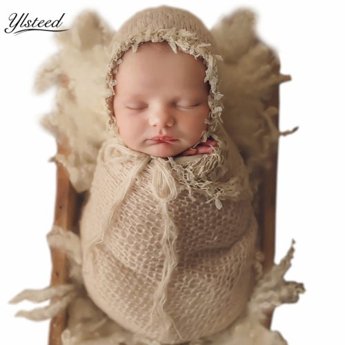 's 2 Pcs Set Tassel Design Photography Props Solid Color Hollow out 0-1Y All Baby Boy