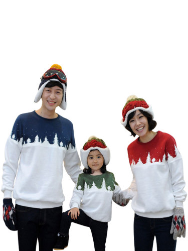 Kids Family Outfits Color Block Sweatshirt Family Long Sleeve Beading Tops Family Outfit Crew Neck Boys & Girls Patchwork