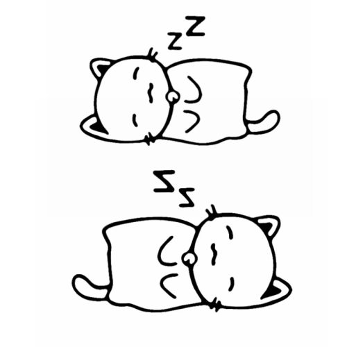 2 Pcs Vehicle Stickers Funny Lovely Sleeping Cat Pattern Vinyl Art Decor Sports Stick Type 2 pcs in packType Of Sticker: Car BodySticker Placement: