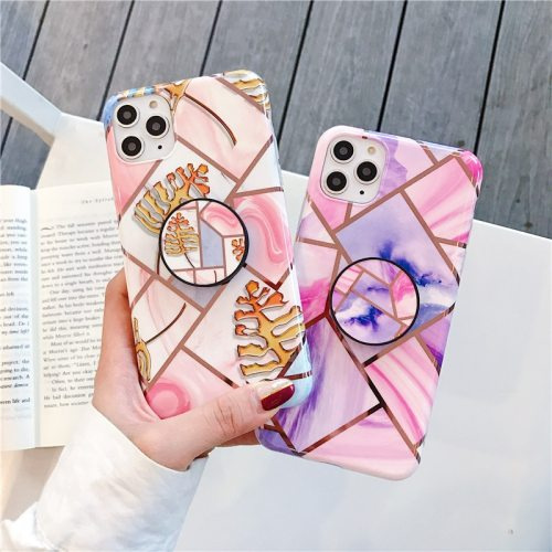 iPhone 11/11 Pro/11 Pro Max/XS/XR/XS Max/X/8/8 Plus/7/7 Plus/6/6S/6 Plus/6S Plus Phone Cover Geometric Pattern With Holder Apple Fresh Others