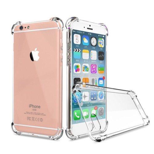 iPhone XS/XR/XS Max/X/8/8 Plus/7/7 Plus/6/6S/6 Plus/6S Plus Phone Cover Transparent TPU Shatter-Resistant Apple Soft Simple