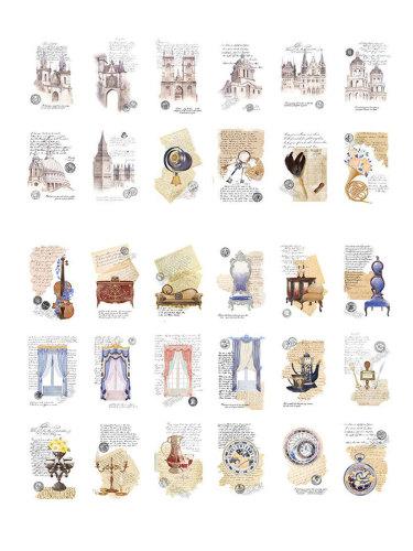 30 Pcs Creative Retro Postcards Student DIY Message Single Page Cards Simple Finance Szie:15*13*1cm