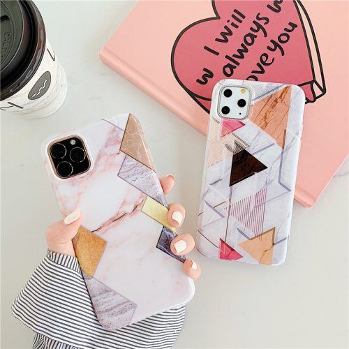 iPhone 11/11 Pro/11 Pro Max/XS/XR/XS Max/X/8/8 Plus/7/7 Plus/6/6S/6 Plus/6S Plus Phone Cover Geometric Pattern Simple Frosted Apple Soft