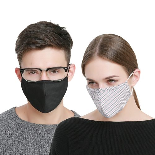 1 Piece Face Mask Simple Solid Color Breathable Anti-Smog Size: 23 * 14 cm