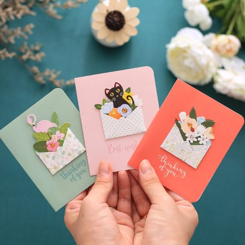 12 Pcs Cards Creative 3D Design DIY Versatile Greeting after folding dimension 103*82cm spread dimension 164*103cm