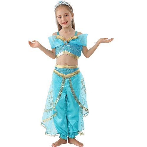 's 2Pcs Costume Set Sequins Top Pants Tassel Short Sleeve Toddler Girls Cosplay Set Girl Winter 4Y Patchwork
