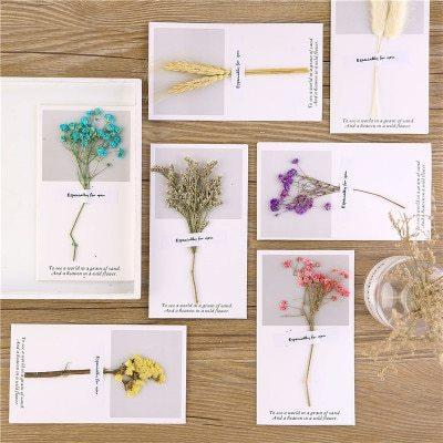 5Pcs Cards Creative Flower Fashion Stationery Size:16*9CM