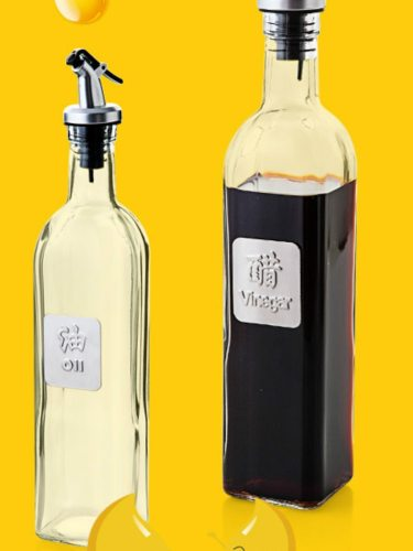 1Pc Oil Dispenser Simple Large Capacity Sealed Glass Oil size:30cm×57cm×57cm