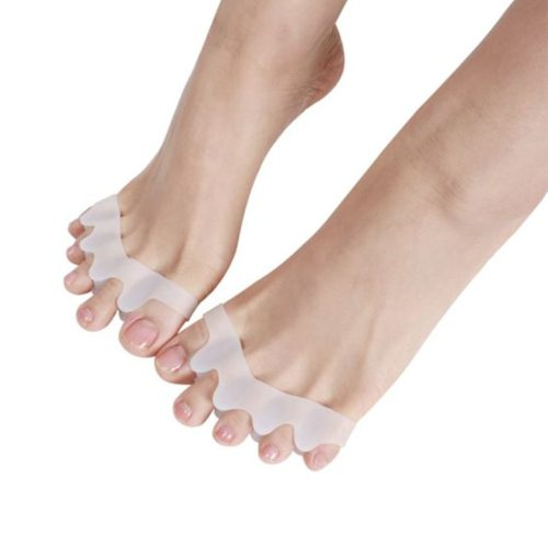 1 Pair Toe Correctors Finger Valgus Toe Separator Foot Features:1 Soft Gel Spacer Relieves Irritations Between Toes that Rub2 Washable & Reusable3 of