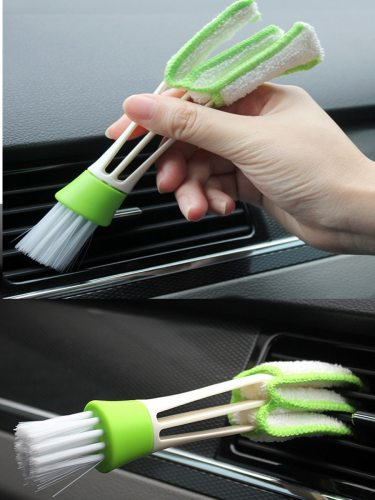 Car Air Vent Slit Cleaner Brush Dusting Blinds Portable Durable Cleaning Features:1Double Ended Brush: Microfiber brush clean your car design: Reach