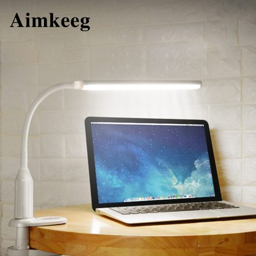 5W USB Eye-Protection Clamp Lamp LED Table Lamp Dimmable Night Feature:1 Stepless adjustment