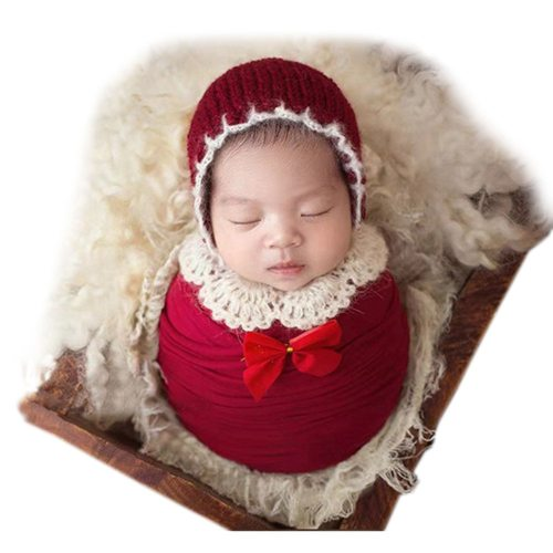Ylsteed 's Photography Prop Fashion Sweet Cute All Solid Color 0-1Y 1 Hat size: head circumference 23cm Unisex Hollow out Baby