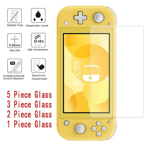 Tempered Glass HD Ultra-thin Explosion-proof Protective Film For Nintendo Switch Screen Protector oil and fingerprints 3Bubble-free :adhesive design