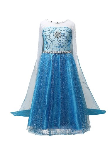 Toddlers Girl's Princess Trailing Dress Long Sleeve Rhinestone Decorative Jacquard Cosplay Set Appliques