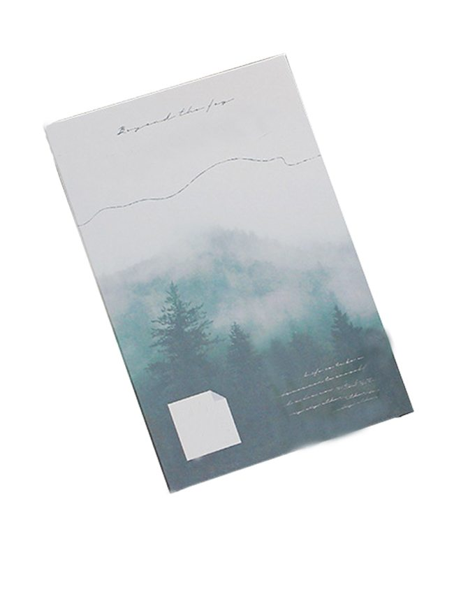 30Pcs Students Cards Creative Design Forest Pattern Single Page Cards Finance Fashion Size:143*93cm
