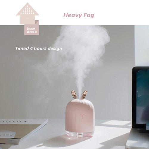 220ML Ultrasonic Air Humidifier Aromatherapy Diffuser for Home Car USB with LED Night PinkPower: 15-2WVoltage: DC5V Feature:1 Colorful light2 USB way