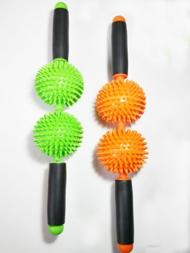 Plastic Massager Portable Dual Balls Tiredness Relief Specifications:1 Size: 41*8cm2 Suitable for: Whole body