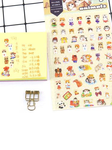3Pcs Stickers Lovely Cartoon Pattern Versatile PVC Natural Multi Stickers Set Animal send by random size:19*105*1cm Gift