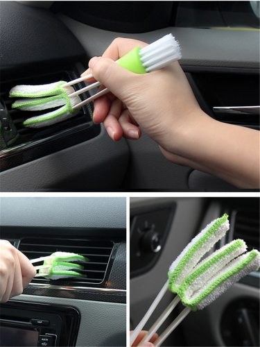 Car Towel Creative Car Air Outlet Keyboard Gap Clean Blush Size: about 165cm Sponge