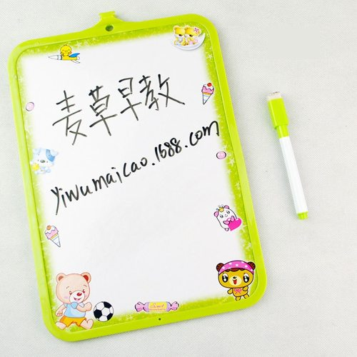 4 Pieces Whiteboards Home Teaching Infant Practice Writing Plastic Drawing Double-side Cork the message is commented No notes are randomly sent6 are