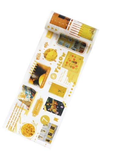 1Pc Students Sticker Creative Design Colorful Writable Multi Stickers Set Fresh Letter Size:10cm*5m Conference