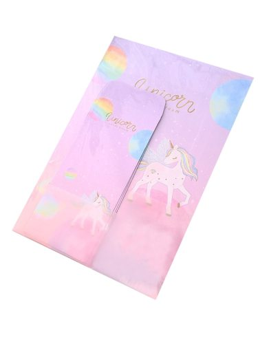 1 Set Fresh Style Unicorn Envelop And Notepaper Set Creative Size:28*19cm