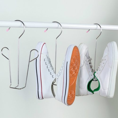 3Pcs Shoes Hangers Set Stainless Steel Anti-Slip Shoes