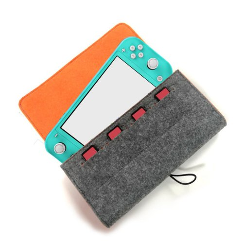 PG-SL008 Little Grey With Game Card Slot Double Storage Protection Bag For Switch it is light and convenient Hardcore Level