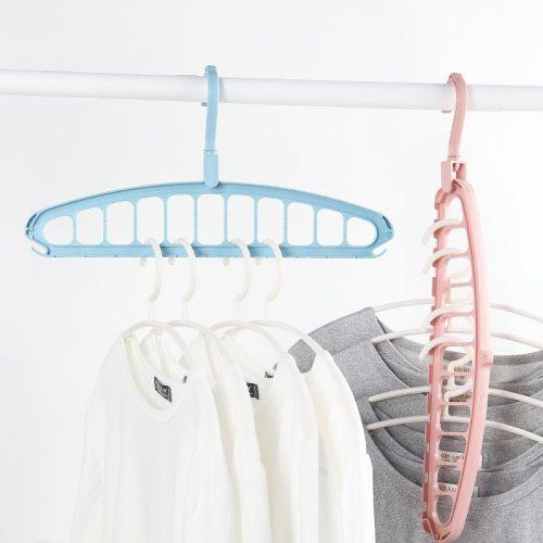 4 Pieces Hangers Versatile Rotatable Solid Color Simple Clothes Storage size:20*40cm