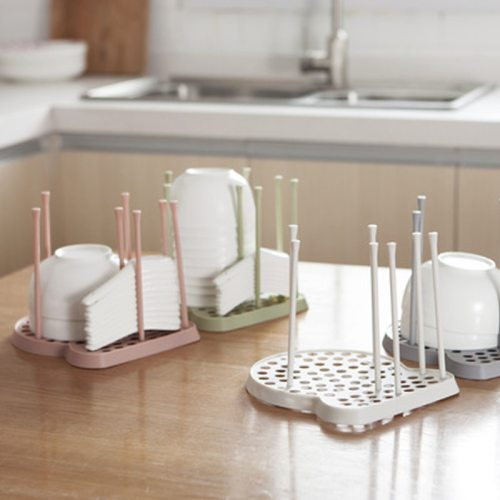 One Piece Chopsticks Rack Nordic Simple Solid Color Draining material:plasticsize:20*20cm