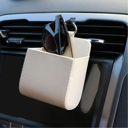 1 Piece Universal PU Leather Car Air Outlet Storage Box Sun Sundries Organizer glasses