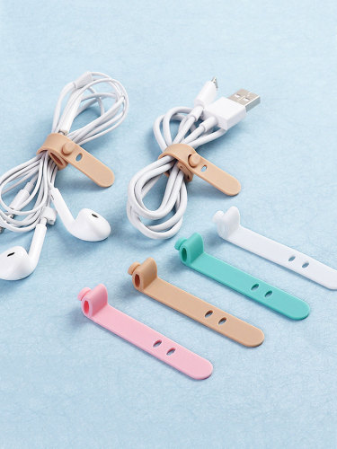 4Pcs Fastening Straps Headset USB Data Cable Tie Size:65*1cm