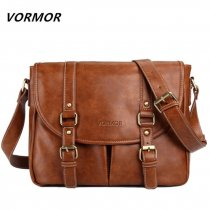VORMOR Brand Leather Men Bag Casual Business Leather Mens Messenger Bag Fashion Men's Crossbody Bag bolsas male
