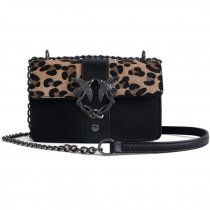 Famous Brand Bags For Women 2018 Luxury Handbags Women Bags Designer Leopard Black Red Female PU Leather Crossbody Shoulder Bags
