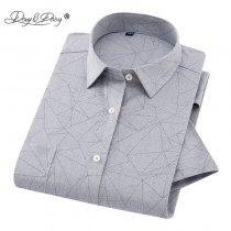 DAVYDAISY Hot Sale Summer Short Sleeve Shirt Men Gypsophila Print Casual Imitation Linen Shirts Male Clothing 11 Colors DS-233