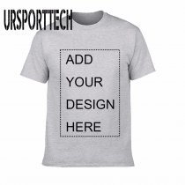 URSPORTTECH Customized Men's T Shirt Print Your Own Design High Quality Breathable Cotton T-Shirt For Men Plus Size XS-3XL
