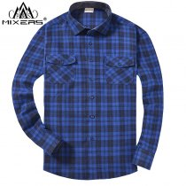 2018 Autumn Winter Fashion Flannel Shirts Men Long Sleeve Two Chest Pockets Slim Fit 100% Cotton Plaid Casual Flannel Shirt Men