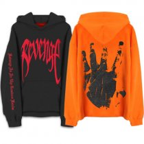 Revenge Kill MENS Sweat Hoodie Sweatshirt Orange Black Hooded Handsome Plus Size XXL