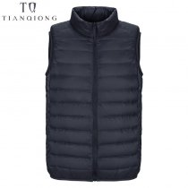 2019 New Men's Sleeveless Ultralight 90% White Duck Down Warm Vest Men's Casual Vest Men's Warm Jacket Outwear Waistcoat