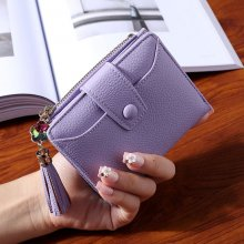 WESTERN AUSPICIOUS Women Wallet 2018 New Purple Blue Gray Black Wallet Female Zipper And Hasp Lady Card Holder