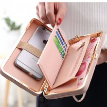 2019 Purse wallet female big capacity brand card holders cellphone pocket gifts for women money bag clutch wristlet bags Bow tie