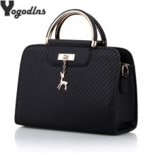 Fashion Handbag 2019 New Women Leather Bag Large Capacity Shoulder Bags Casual Tote Simple Top-handle Hand Bags Deer Decor