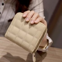 Wallet Women PU Leather Female Plaid Purses Nubuck Card Holder Wallet Fashion Woman Wallet Short Zipper Cute Pocket Coin Purse