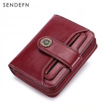 SENDEFN Trend Wallet Female Women Wallet Short Wallet Quality Coin Purse Women Button Purse Quality Flower Hardware 5185H-75