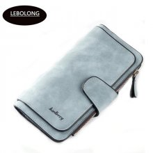 Hot sales Brand Wallet Women Scrub Leather Lady Purses High Quality Ladies Clutch Wallet Long Female Wallet Carteira Feminina