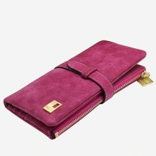 Woman wallet Long Fashion Luxury Brand  frosted Leather purse Female Coin Purse Wallet Women Card Holder Wristlet Money Bag