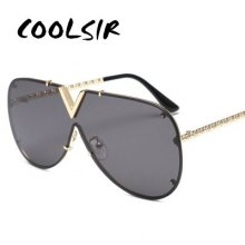 COOLSIR GIRL Fashion Sunglasses Men Women Brand Design Metal Frame Oversized Personality High Quality Unisex Sun Glasses
