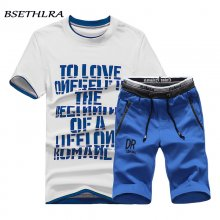 BSETHLRA 2019 Brand New Men T Shirt Sets Summer Hot Sale Cotton Comfortable Short Sleeve Tshirt Homme Casual Set Male Size D03
